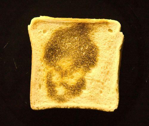 Muhammed viser sig på toastbrød