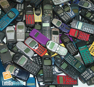 Gamle mobiltelefoner