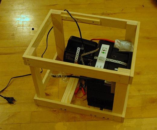 Wacken PC: Wooden Frame with Battery and Charger